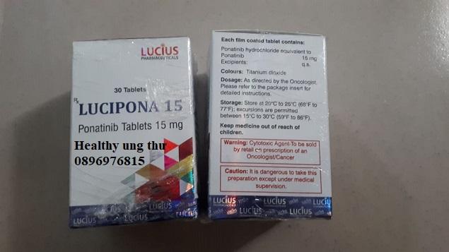 Thuốc Lucipona 15 -Thuốc Lucipona 45 - Ponatinib 15 - Ponatinib 45